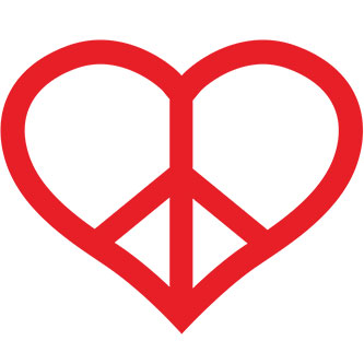 Peace Heart Sticker